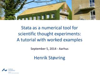 Stata as a numerical tool for  scientific  thought experiments:  A  tutorial with worked  examples