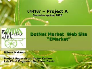 DotNet Market  Web Site �EMarket�