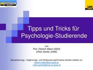 Tipps und Tricks für Psychologie-Studierende