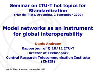 Model networks as an instrument for global interoperability