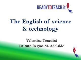 The English of science & technology