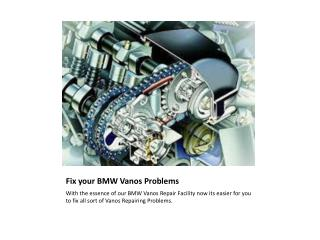 BMW Vanos Repair | BMW Pixel and Cluster Repair