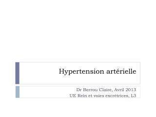Hypertension art�rielle