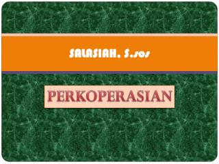 SALASIAH, S.sos