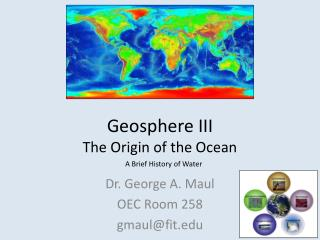 Geosphere III The Origin of the Ocean