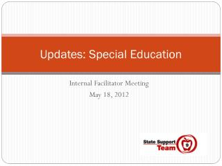 Updates: Special Education
