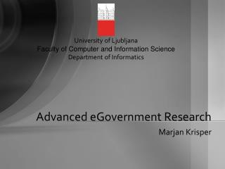 Advanced eGovernment Research