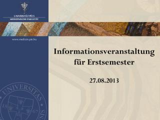 Informationsveranstaltung f�r Erstsemester