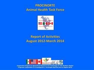 Report of Activities August 2012-March 2014