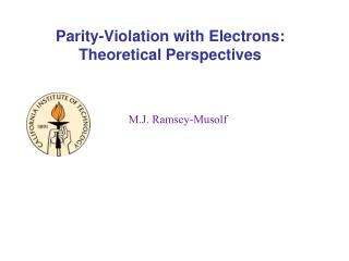 Parity-Violation with Electrons: Theoretical Perspectives