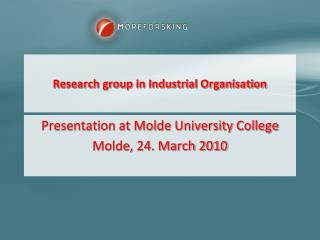 Research group in Industrial Organisation