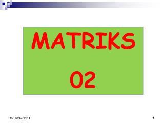 MATRIKS  02