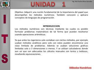 IMPORTANCIA DE LOS METODOS NUMERICOS (continúa.)