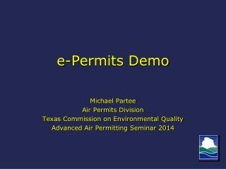 e -Permits Demo