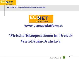 INTERREG IIIA – Projekt Österreich-Slowakei-Tschechien