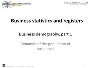 Business demography, part 1
