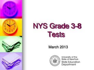 NYS Grade 3-8 Tests