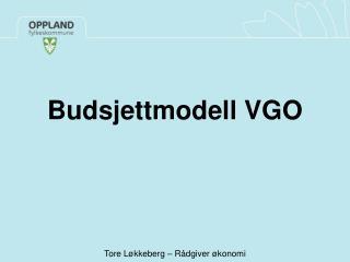 Budsjettmodell VGO
