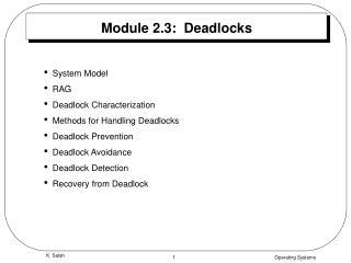 Module 2.3:  Deadlocks