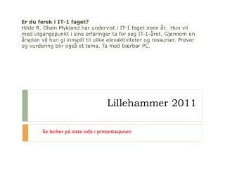 Lillehammer 2011