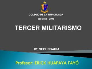 Profesor: ERICK HUAPAYA FAYÓ