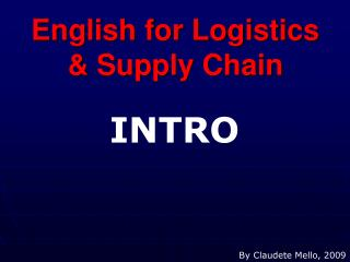 English for Logistics & Supply Chain