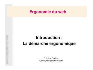 Ergonomie du web