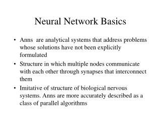 Neural Network Basics
