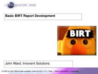 Basic BIRT Report Development