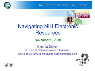 Navigating NIH Electronic Resources November 5, 2008