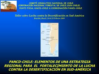 COMITÉ CONSULTIVO NACIONAL DE  CHILE. CORPORACIÓN NACIONAL FORESTAL DE CHILE (OCN -CHILE)