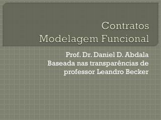 Contratos Modelagem Funcional