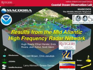 Results from the Mid Atlantic High Frequency Radar Network
