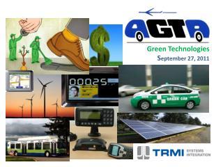 Green Technologies S eptember 27, 2011