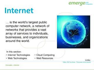 Concepts  > Internet