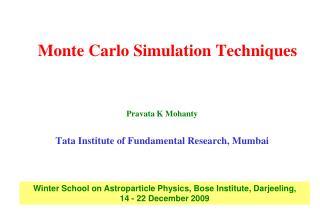 Monte Carlo Simulation Techniques