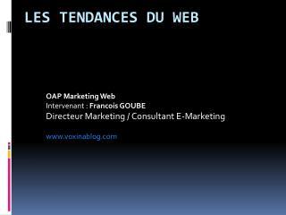 Les tendances du web