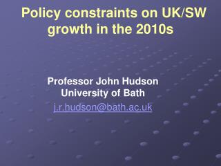 Policy constraints on UK
