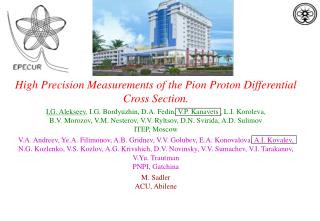 High Precision Measurements of the  Pion  Proton Differential Cross Section.