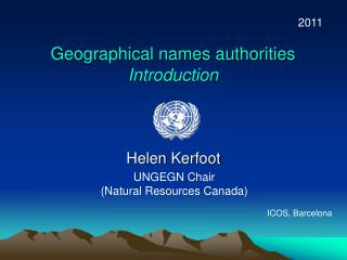 Geographical names authorities Introduction