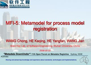 MFI-5: Metamodel for process model registration WANG Chong, HE Keqing, HE Yangfan, WANG Jian