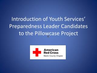 Introduction of Youth Services '  Preparedness Leader Candidates to the Pillowcase Project