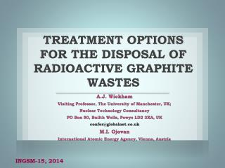 Treatment options for the disposal of radioactive graphite wastes
