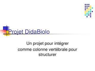 Projet DidaBiolo