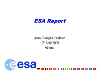 ESA Report