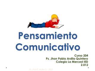Pensamiento Comunicativo