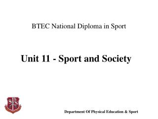 BTEC National Diploma in Sport