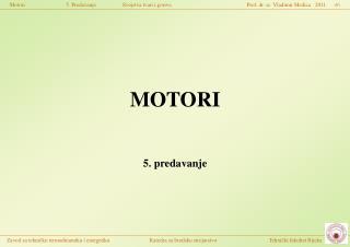 MOTORI 5. predavanje