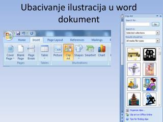 Ubacivanje ilustracija u word dokument