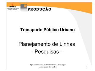 Transporte P�blico Urbano